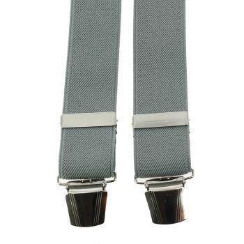 Bretelle 4 clips, gris clair