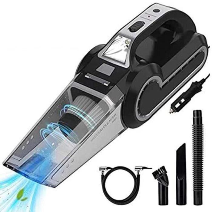 MM31527-Aspirateur de Voiture 4 en 1 Aspirateur Compresseur d'Air 4500 Pa Wet-Dry Aspirateurs Portables Puissants avec Lumière LED