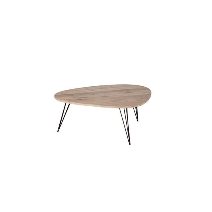 UNIVERS-DECOR Table Basse Neile Moyen mod/èle 97 x 65 cm Atmosphera