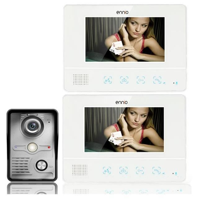 Jeantone 17,8 cm Moniteur /à /écran Tactile vid/éo Porte T/él/éphone Sonnette kit Intercom Syst/ème dentr/ée vid/éo /…