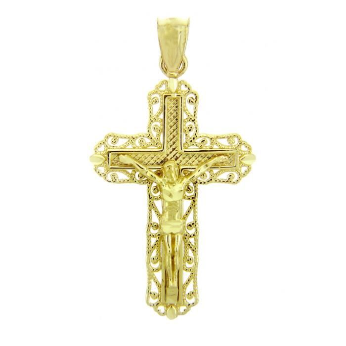 Pendentif 10 ct 471/1000 Croix en Or JauneLe crucifix Ever After