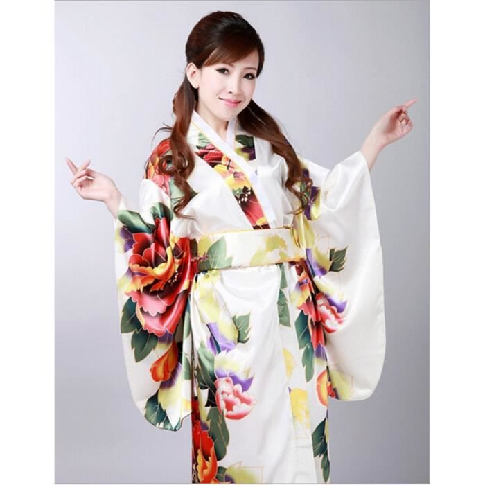 japonais de luxe r tro vintage v tement kimono cosplay costume robe yukata haori peignoir 4. Black Bedroom Furniture Sets. Home Design Ideas