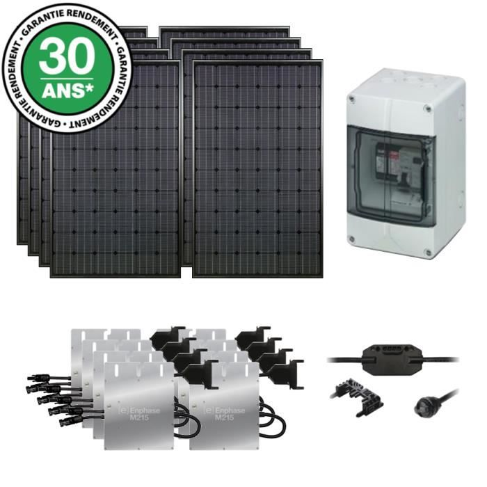kit solaire autoconsommation 2000wc monocristallin film noir solarworld achat vente kit. Black Bedroom Furniture Sets. Home Design Ideas