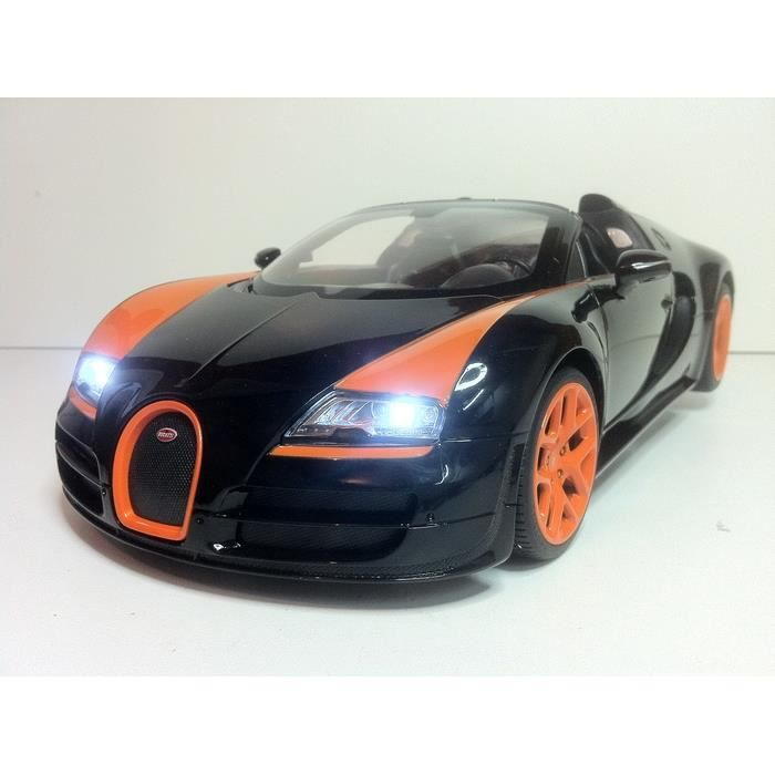 bugatti veyron 16 4 grand sport radiocommandee noir achat vente voiture construire cdiscount. Black Bedroom Furniture Sets. Home Design Ideas