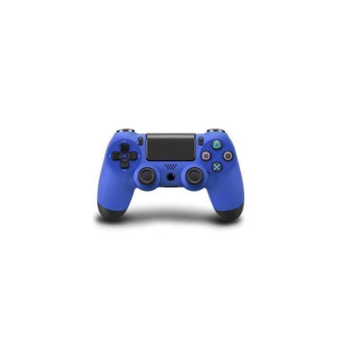 MANETTE JEUX VIDÉO SHA Sans fil Manette DOUBLESHOCK 4 pour PS4 – Bleu