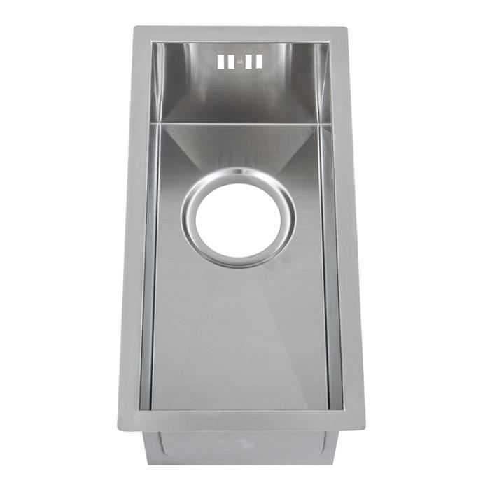 Evier cuisine vier dangle inox lisse angie 2 bacs 12 for Petit evier inox