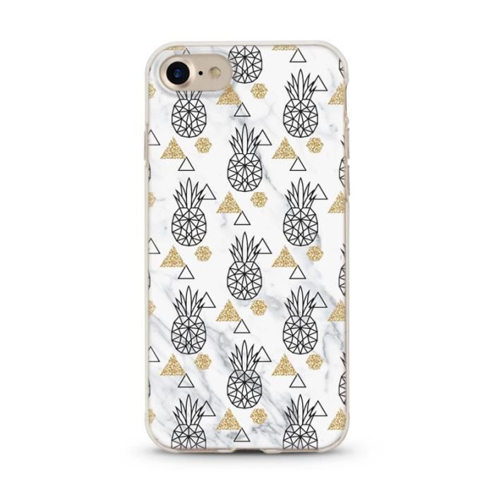 coque iphone 7 ananas doré