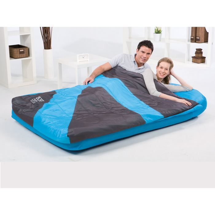 matelas gonflable 2 places aslepa 2 en 1 av achat vente lit gonflable airbed cdiscount. Black Bedroom Furniture Sets. Home Design Ideas