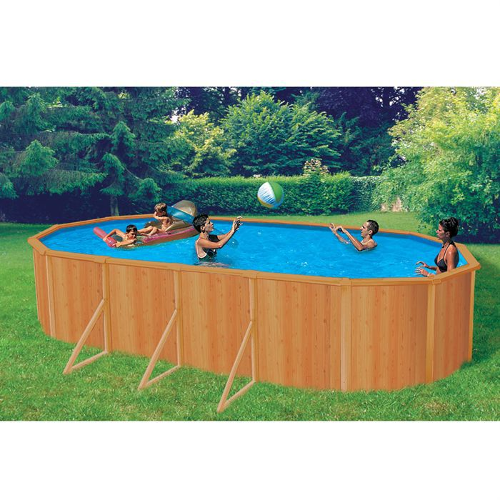 Abak piscine canyon 7 60 x 3 90 x 1 20 m achat vente for Piscine abak