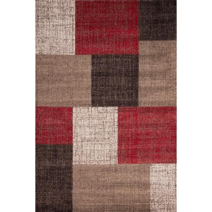 Mondo tapis de salon rouge 160x230 cm achat vente tapis 100 polypropyl ne cdiscount - Tapis de salon but ...
