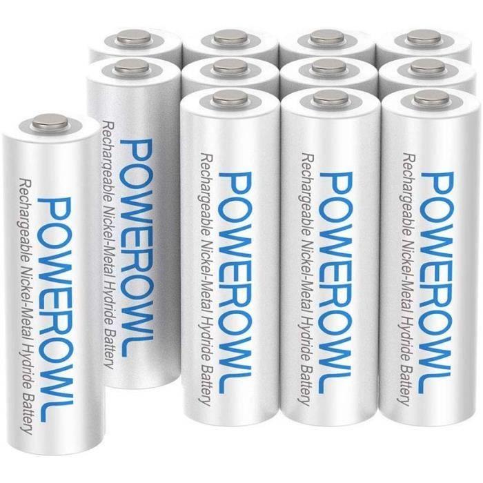 Lot de 12 piles Philips rechargeables AAA HR03 1,2 V 1000 mAh