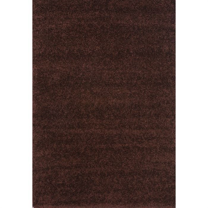 tapis shaggy d co choco 160x230 40mm achat vente tapis. Black Bedroom Furniture Sets. Home Design Ideas