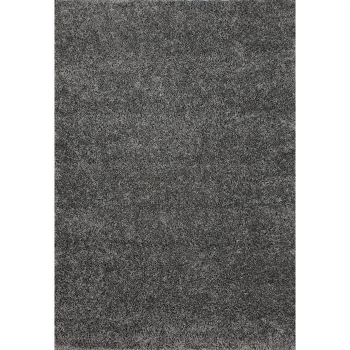 tapis shaggy d co gris 160x230 40mm achat vente tapis 100 polypropyl ne heat set cdiscount. Black Bedroom Furniture Sets. Home Design Ideas