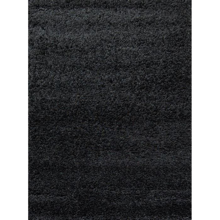tapis shaggy d co noir 160x230 40mm achat vente tapis. Black Bedroom Furniture Sets. Home Design Ideas