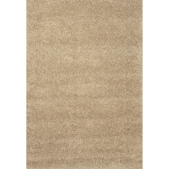 tapis shaggy d co taupe 160x230 40mm achat vente tapis. Black Bedroom Furniture Sets. Home Design Ideas
