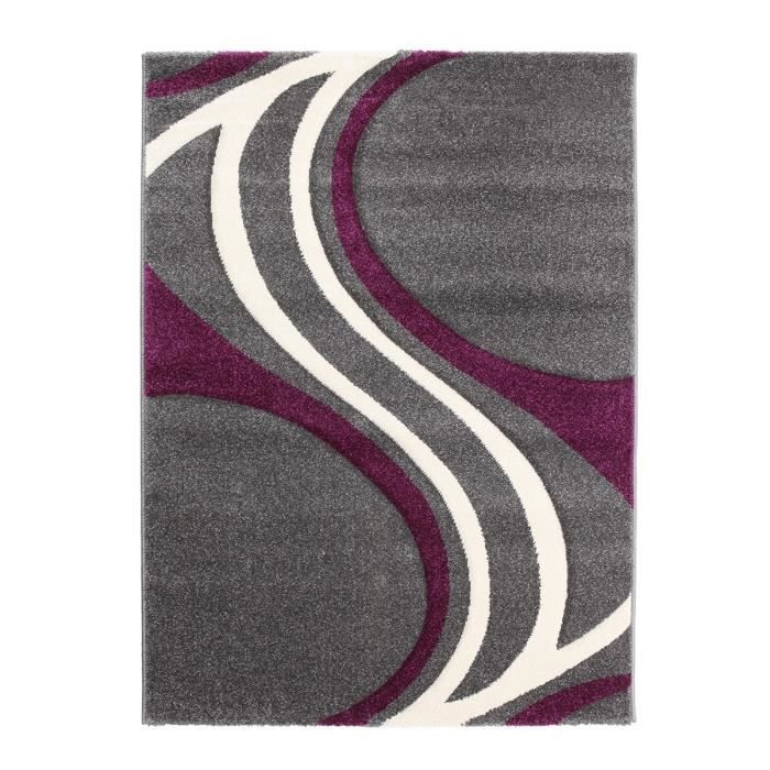 finlandek tapis de salon nivala gris violet et achat. Black Bedroom Furniture Sets. Home Design Ideas