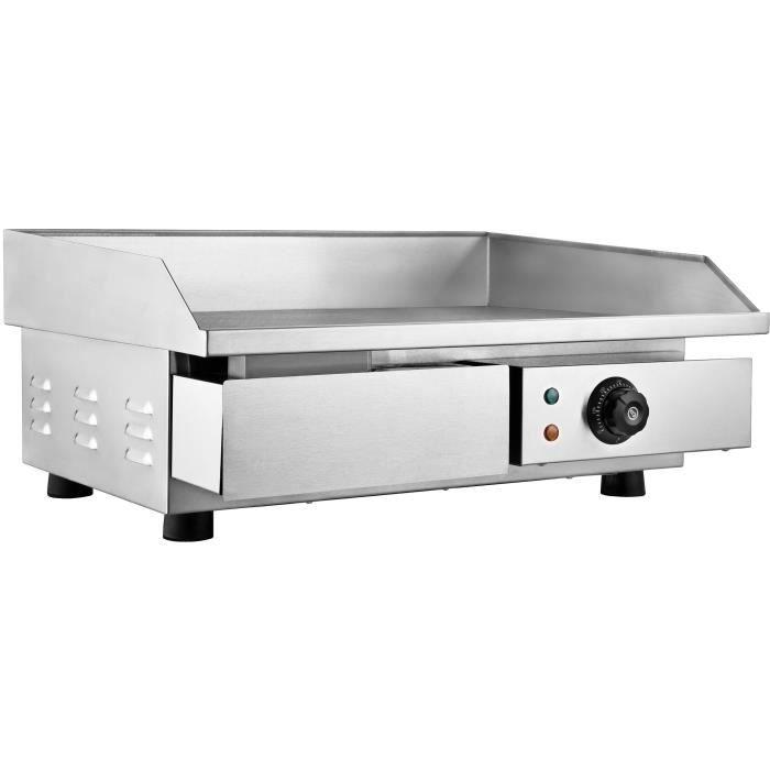 Électrique Barbecue Plancha Chauffante Griddle Plaque BBQ Gril inox comptoir 3KW