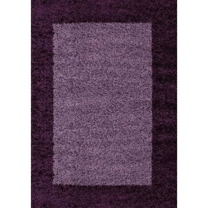 Tapis de salon violet achat vente tapis de salon for Tapis shaggy avec canape d angle black friday