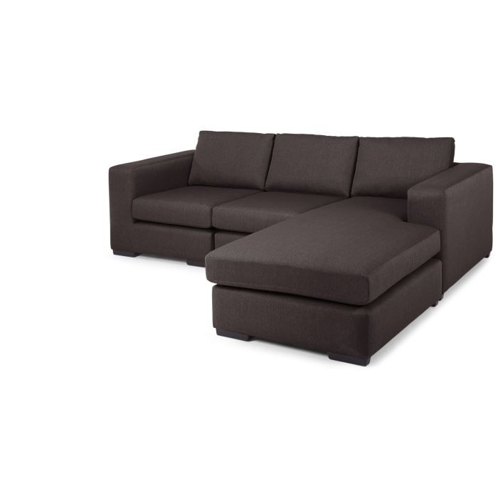 abingdon canap d 39 angle modulable 4 places gr achat vente canap sofa divan cdiscount. Black Bedroom Furniture Sets. Home Design Ideas
