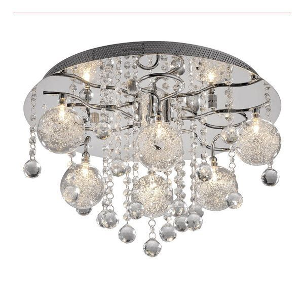 Suspension baroque pampilles telecommande achat vente for Suspension luminaire salle de bain