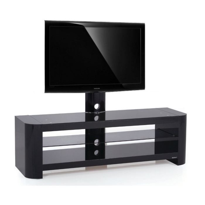 meuble tv design noir crv 144h bb 32 55 pouces achat vente meuble tv meuble tv design crv. Black Bedroom Furniture Sets. Home Design Ideas