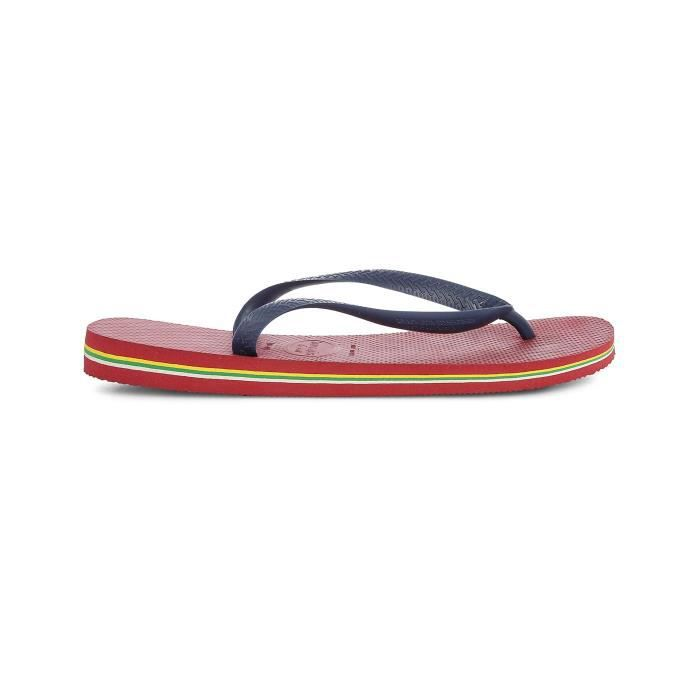 HAVAIANAS Tongs Logo Brésil - Mixte - Rouge XAAwjl9agm