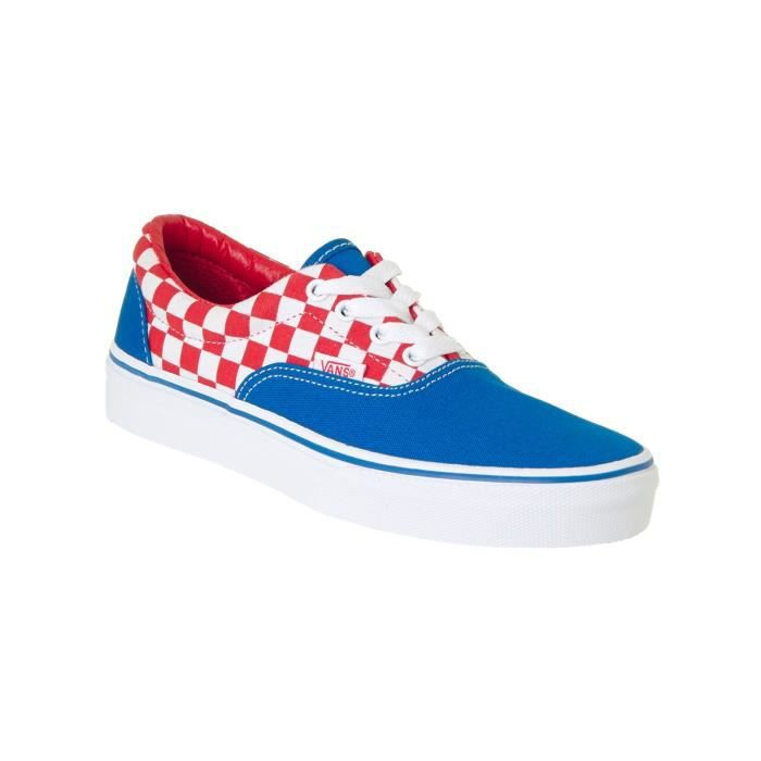 Chaussure Enfant Vans Era Checkerboard-Racing Rouge-Imperial Bleu