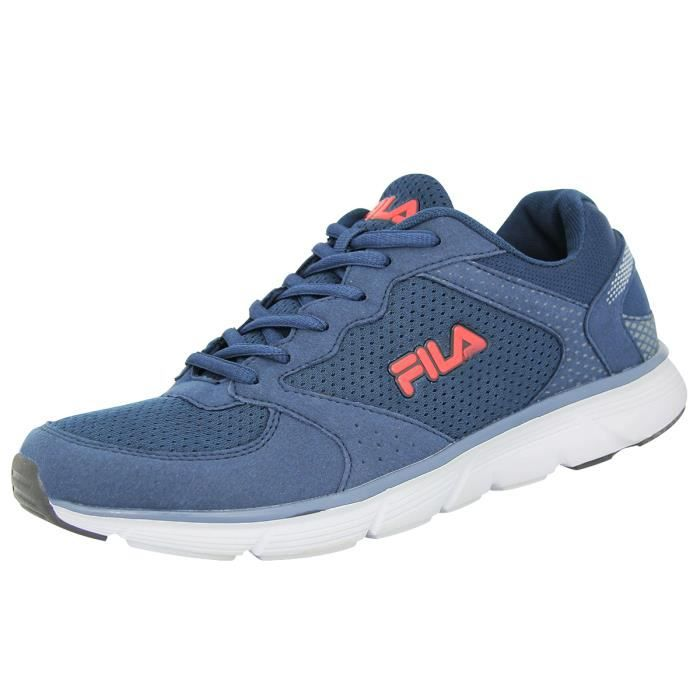 Fila OBJECT RUN LOW Chaussures De Course Running Homme Bleu