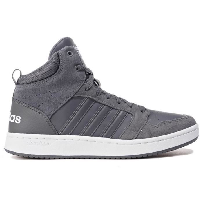 Chaussures Adidas CF Super Hoops Mid Gris Achat Vente