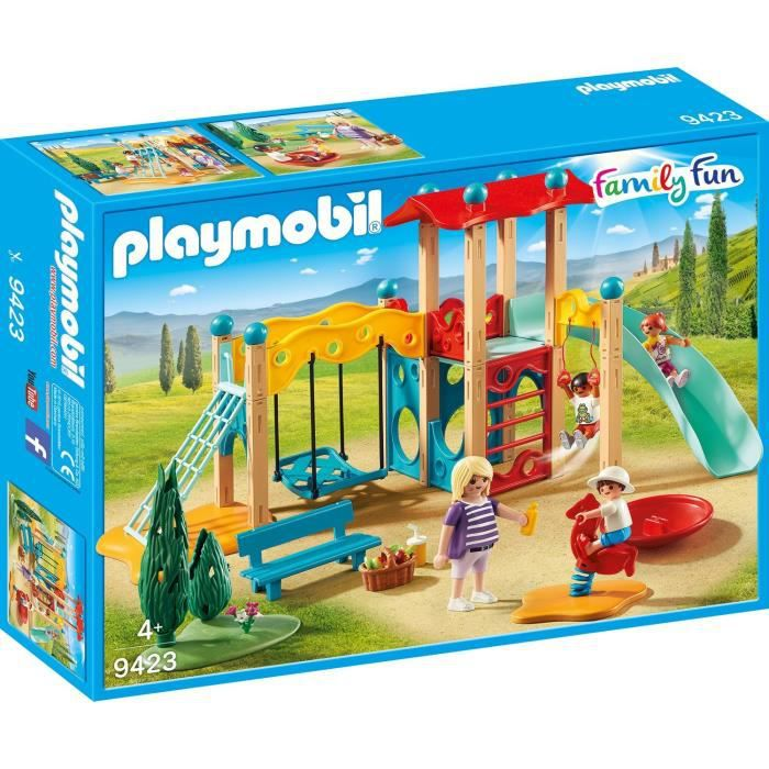 Photo de playmobil-9423-family-fun-parc-de-jeu-avec-toboggan