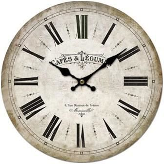 horloge murale pub r tro vintage en bois 34 cm achat vente horloge horloge murale pub. Black Bedroom Furniture Sets. Home Design Ideas