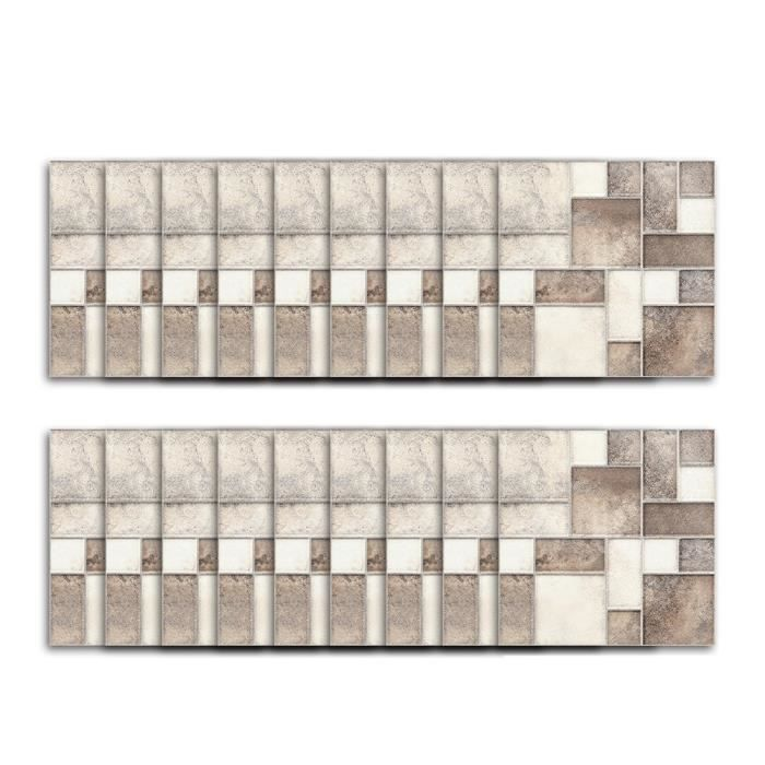 18 Pieces Series Autocollant Carrelage Mosaique Autocollant