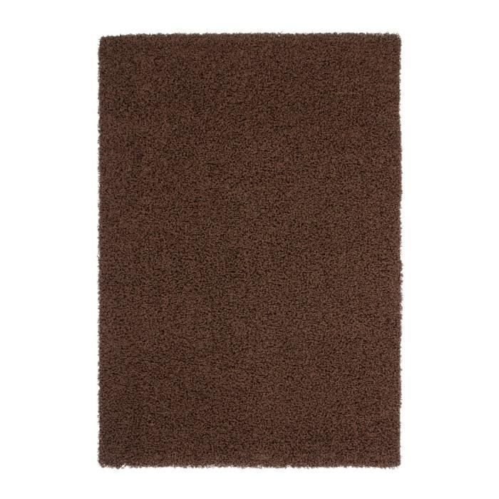 Tapis De Salon Shaggy Trendy 30mm 160x230cm Marron Achat Vente Tapis Cdiscount