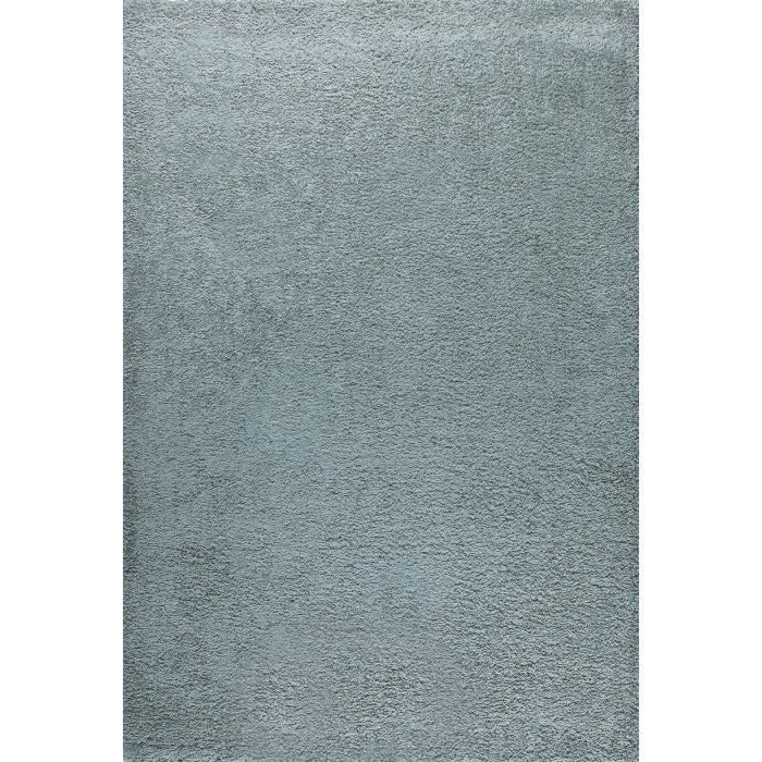 tapis shaggy trendy 160x230 30mm bleu perle achat vente tapis 100 polypropyl ne cdiscount. Black Bedroom Furniture Sets. Home Design Ideas