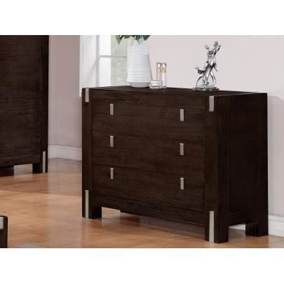 commode florilege 3 tiroirs bois et m tal we achat vente commode semainier commode. Black Bedroom Furniture Sets. Home Design Ideas