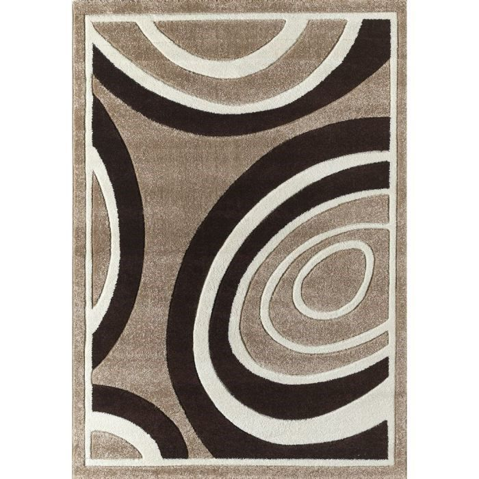 Verso tapis de salon contemporain 160x230 cm achat for Tapis salon contemporain