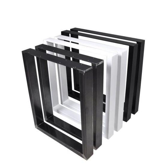 40x42 Cm Set De 2 Pieds De Table Pied De Meuble Rectangulaire Pied De Table A Manger Avec Revetu Par Poudre Noir Acier Pieds De Meubles Quincaillerie Du Meuble