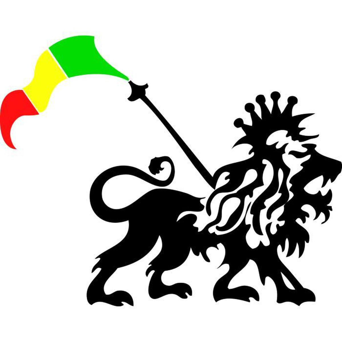 Sticker rasta 105 lion 72x57 cm
