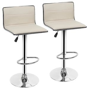 TABOURET DE BAR Lot de 2 Tabourets Bar Chaises Pivotant en Simili