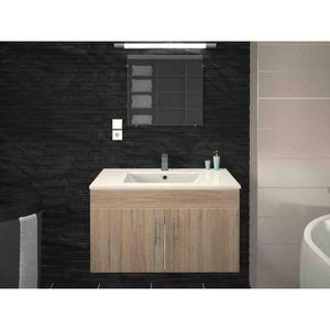 SALLE DE BAIN COMPLETE Meuble de salle de bain simple vasque 80 cm finiti