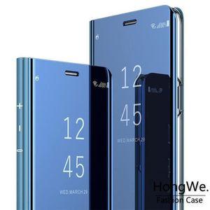 HOUSSE - ÉTUI Coque Samsung S9 Plus,Miroir Antichoc Clear View E