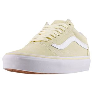 Vans Old Skool Femmes Baskets Jaune Blanc - 8 UK Jaune blanc ...