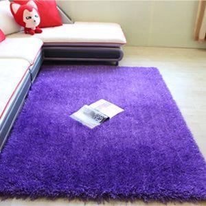 Tapis poil violet