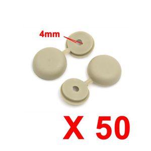 VIS - CACHE-VIS RIVET sourcingmap® 50pcs 4mm Beige Cache-vis artic