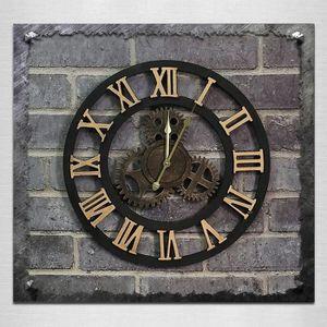 HORLOGE - PENDULE Horloge murale or Originalité Vintage Style Indust