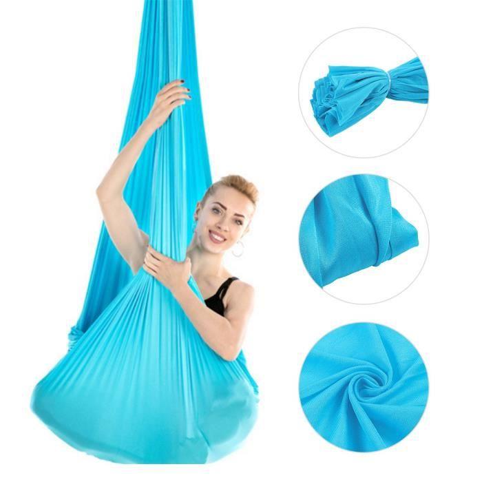 NAK Bande élastique 2.8m Durable Élastique Aérien Yoga Hamac Remise En pourme Fitness Accessoire Ciel Bleu
