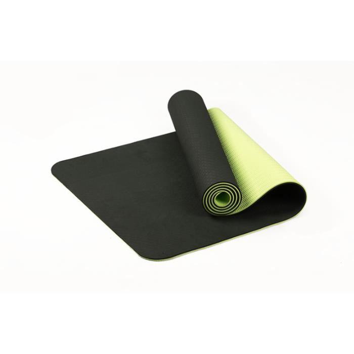 Tapis de Yoga Grand Tapis de Gym épais rembourré pour Fitness Pilates Tapis Gym antidérapant et Durable, 61*183*0.6cm,vert