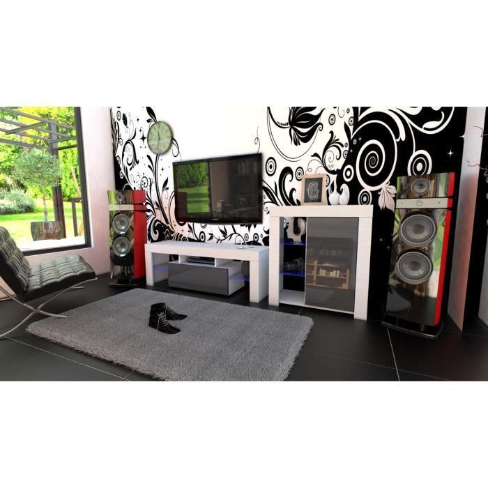 Ensemble de meubles blanc mat et noir laqué + les RGB