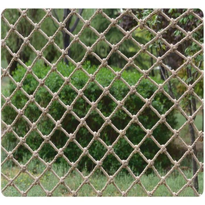 Filet De Corde De Chanvre Filet De Protection Chanvre Corde DéCoration Net Filet De Corde Chanvre ClôTure ExtéRieur D'Obstacle BéB S