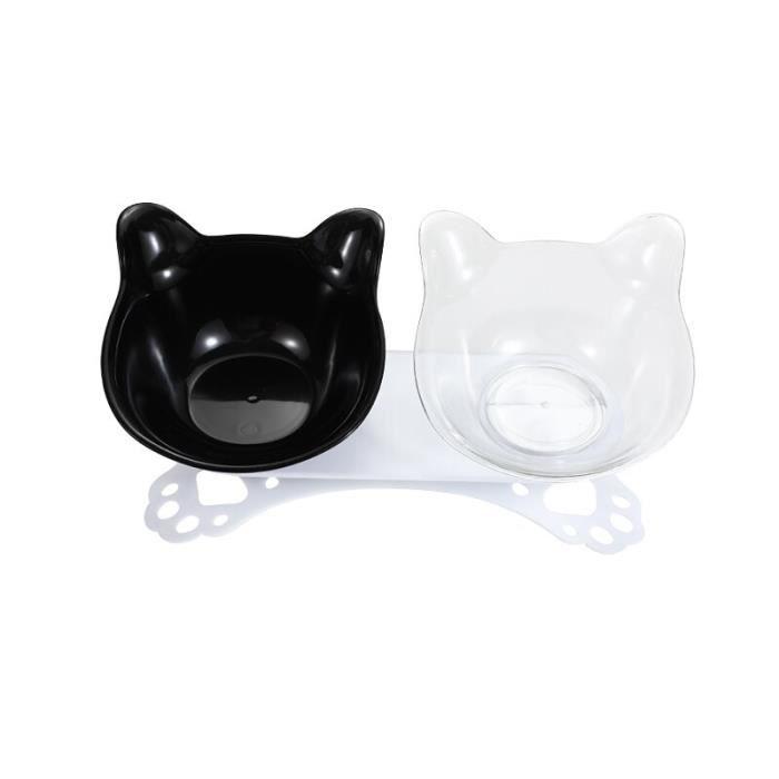 Ecuelle,Bols surélevés pour chats durables chat Double bols surélevé support d'alimentation pour chats, tapis gamelle - Type 7-S